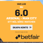 Speltips Arsenal Man City